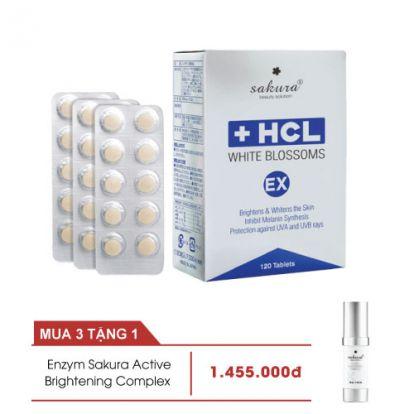 Viên uống giảm nám chuyên sâu Sakura White Blossoms HCL Ex