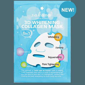 Mặt nạ làm trắng da Sakura 3D Whitening Collagen Mask (Gói)