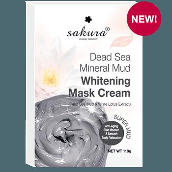 Kem tắm trắng bùn khoáng tự nhiên Sakura Dead Sea Whitening Mask Cream chính hãng của Nhật
