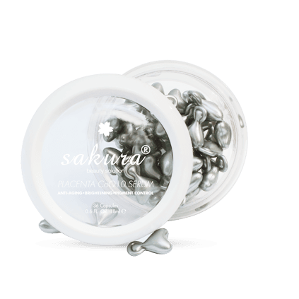 Serum kem dưỡng trắng da chống lão hóa nhau thai cừu Sakura chính hãng của Nhật
