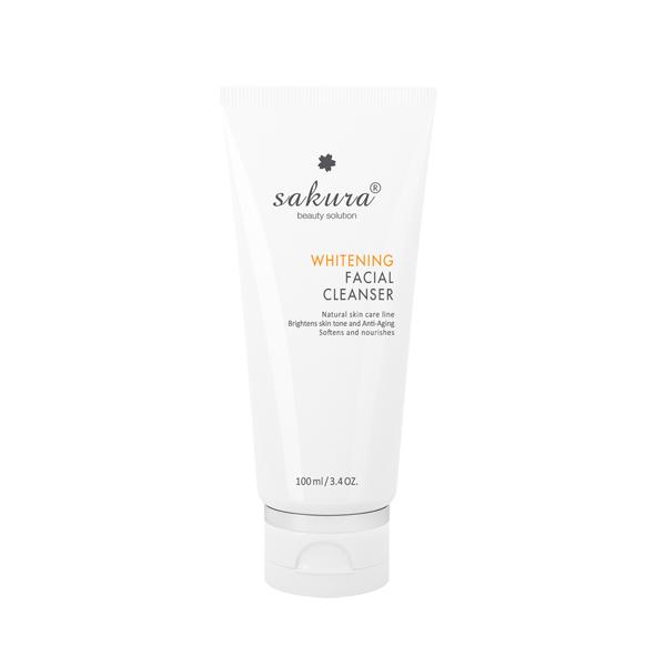 Sữa rửa mặt trắng da Sakura Whitening Facial Cleanser chính hãng
