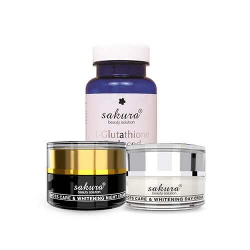 Bộ sản phẩm trị nám và dưỡng trắng da cao cấp Sakura