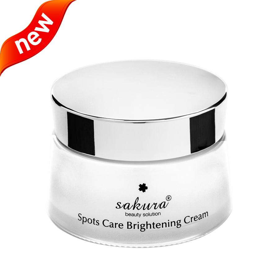 Sản phẩm dưỡng trắng da và ngăn ngừa sạm nám Sakura Spots Care Brightening Cream