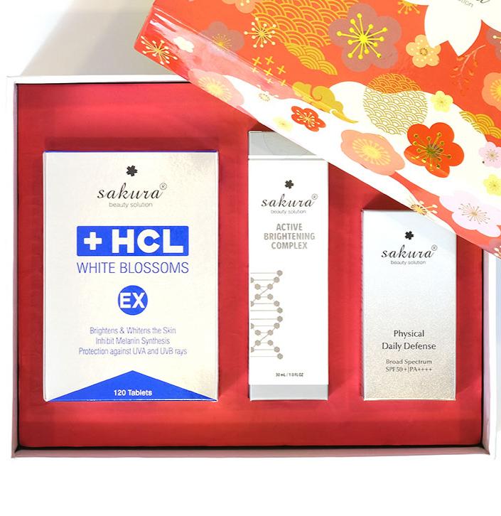 Bộ 3 sản phẩm bảo vệ tối ưu làn da khỏi sạm nám Sakura