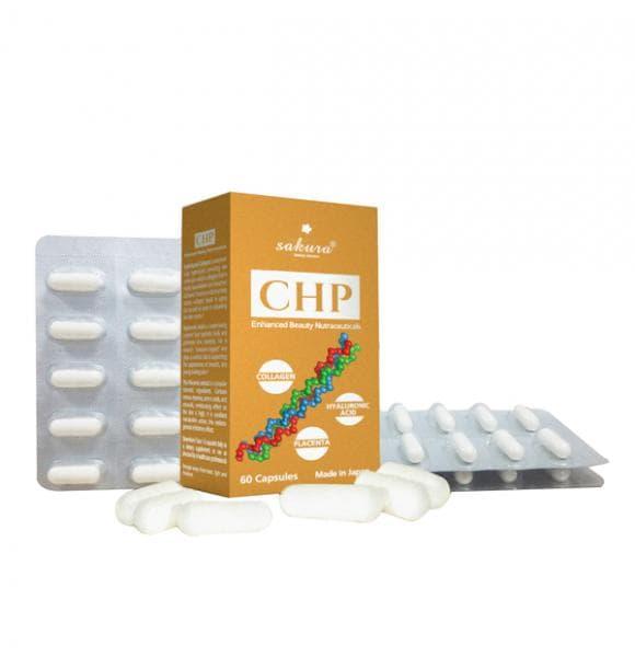 Viên uống dưỡng da Sakura CHP Enhanced Beauty Nutraceuticals chính hãng của Nhật