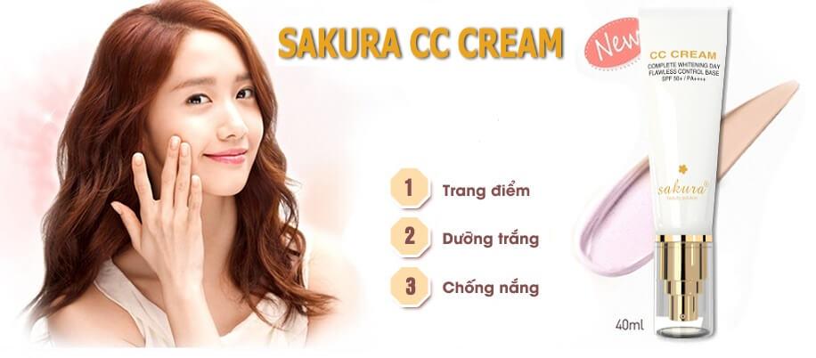 Kem trang điểm Sakura CC Cream có giá niêm yết bao nhiêu?