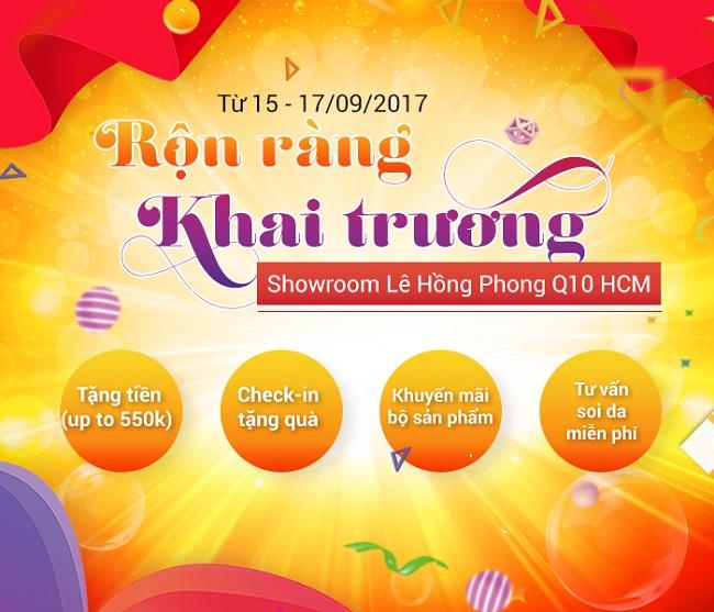 Hướng dẫn sử dụng mã mua hàng giảm giá mỹ phẩm Sakura 10‰ nhân dịp khai trương showroom mới Lê Hồng Phong, Quận 10