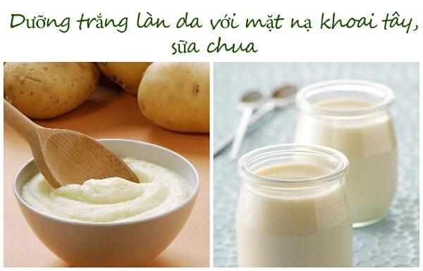 3 Cách Làm Mặt Nạ Khoai Tây Sữa Chua Trị Thâm Mụn, Sạm Nám