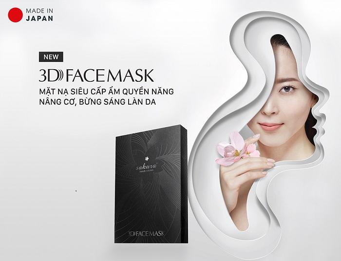 """Review Mặt Nạ Sakura 3D Face Mask đang được các Sao Việt  nhiệt tình """"săn đón"""""""