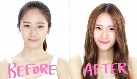 Trước và sau khi trang điểm