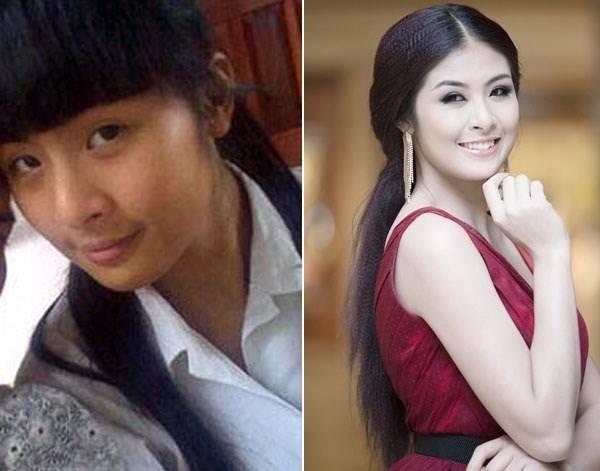 Hoa hậu Ngọc Hân trước và sau khi sử dụng sản phẩm
