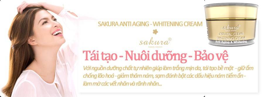 Với Kem dưỡng trắng da chống lão hóa Sakura, đẹp chỉ là chuyện nhỏ