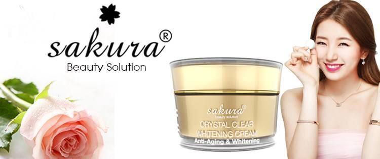 Kem dưỡng trắng da chống lão hóa Sakura Anti Wrinkle Whitening cao cấp
