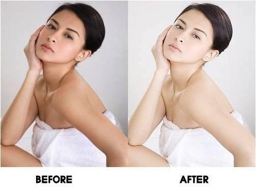 Trước và sau khi sử dụng sản phẩm kem tắm trắng Sakura