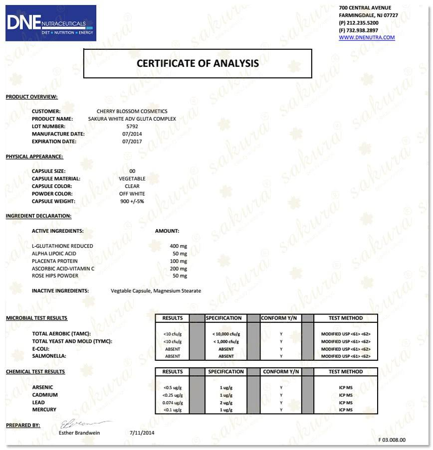 Giấy chứng nhận của cơ quan Quản lý Dược phẩm và Thực phẩm Hoa Kỳ (FDA)