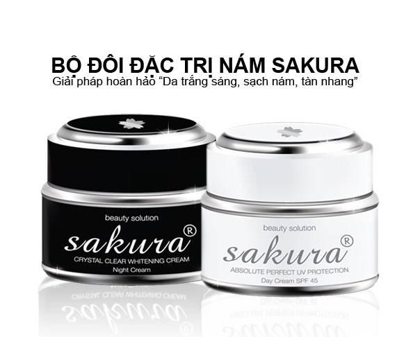 Bộ đôi dưỡng trắng, đặc trị nám Sakura