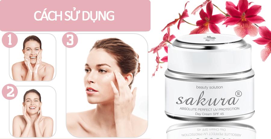 Hưỡng dẫn sử dụng kem trị nám ngày Sakura