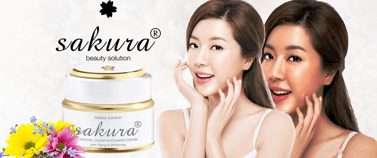 Kem dưỡng trắng da chống lão hóa Sakura Anti Wrinkle Whitening
