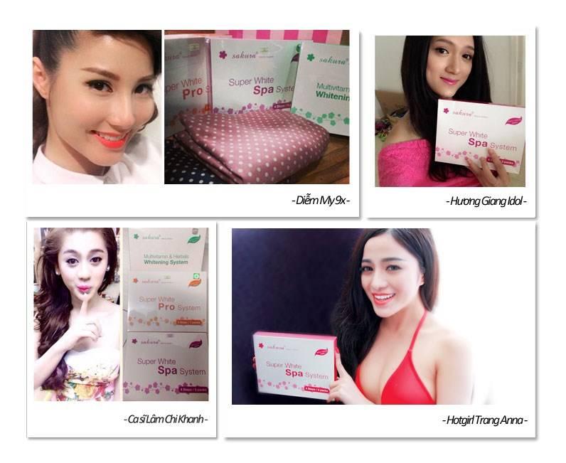 Kem tắm trắng Sakura Super White Spa System rất được giới người mẫu, hotgirl tin dùng