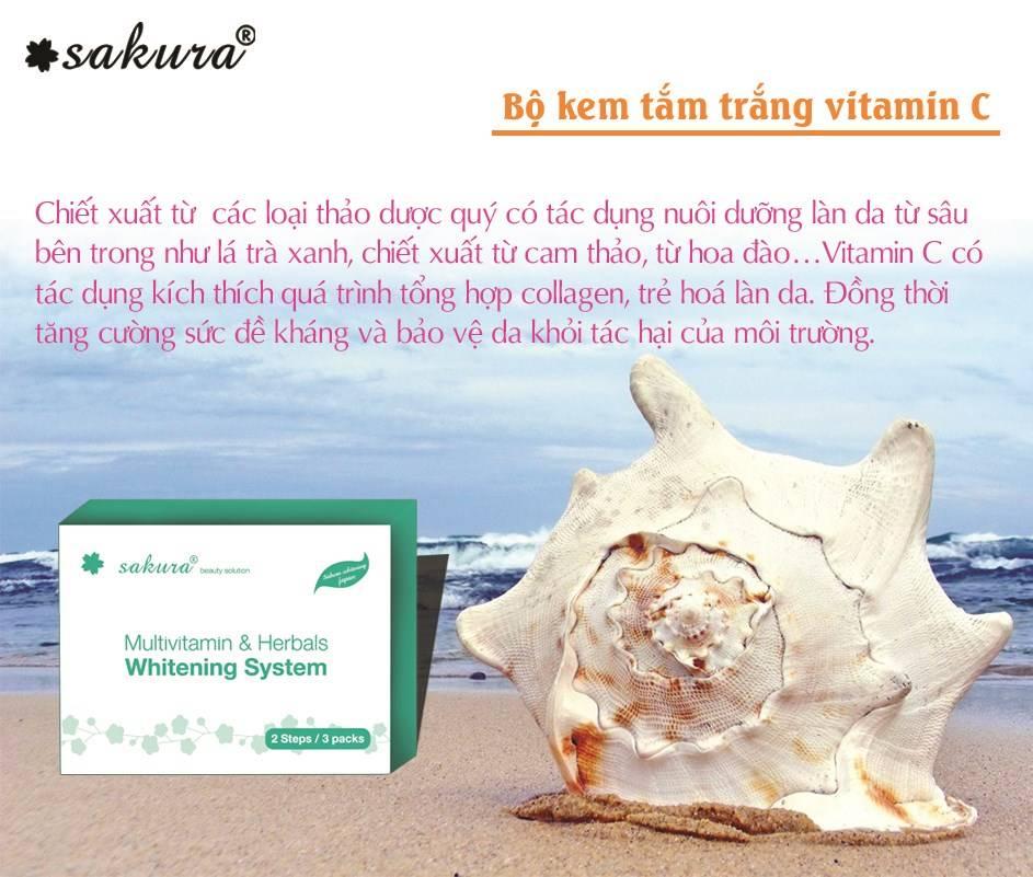 Bộ kem tắm trắng tinh chất Vitamin C cô đặc và thảo dược  - Đánh thức làn da trắng