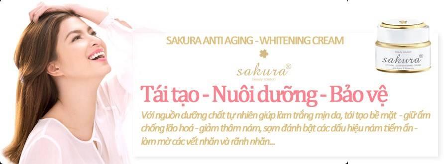 Với Kem dưỡng trắng da ngăn ngừa lão hóa Sakura, đẹp chỉ là chuyện nhỏ