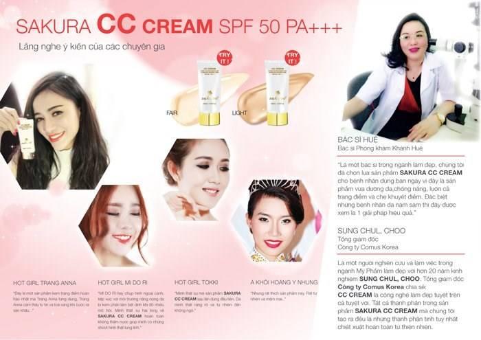 Ý kiến của các chuyên gia về CC Cream Sakura