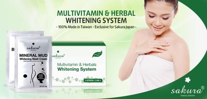 Bộ kem tắm trắng tinh chất Vitamin C cô đặc và thảo dược cho da trắng mịn ngay lần đầu tiên