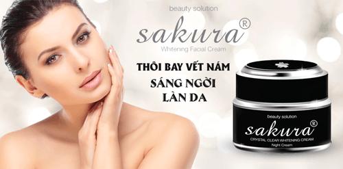 Công dụng tuyệt vời của kem trị nám Kem trị nám Sakura Whitening Night Cream